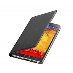 Custodia flip cover originale Samsung EF-WN750 Nero Galaxy Note 3 Neo